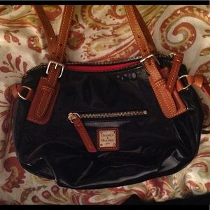 Dooney & Bourke Bags - Dooney & Bourke Mini Patent Leather Black Bag